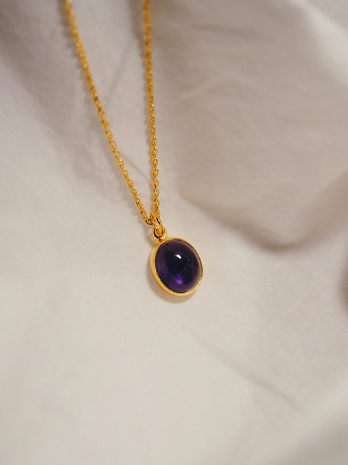 AMETHYST Necklace Gold
