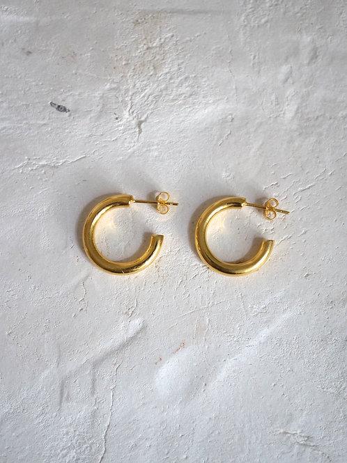 little chunky hoops (S) 18mm 18k gold vermeil