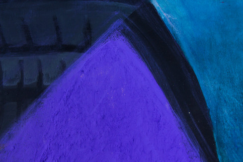 """Detail of """""""", Acrylic painting and pigments on canva, cmxcm"""