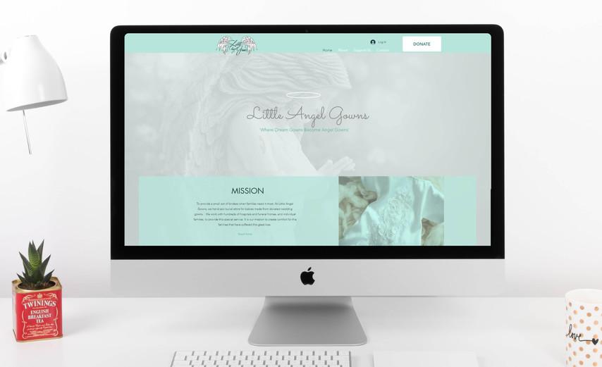 Little Angel Gowns Website Design
