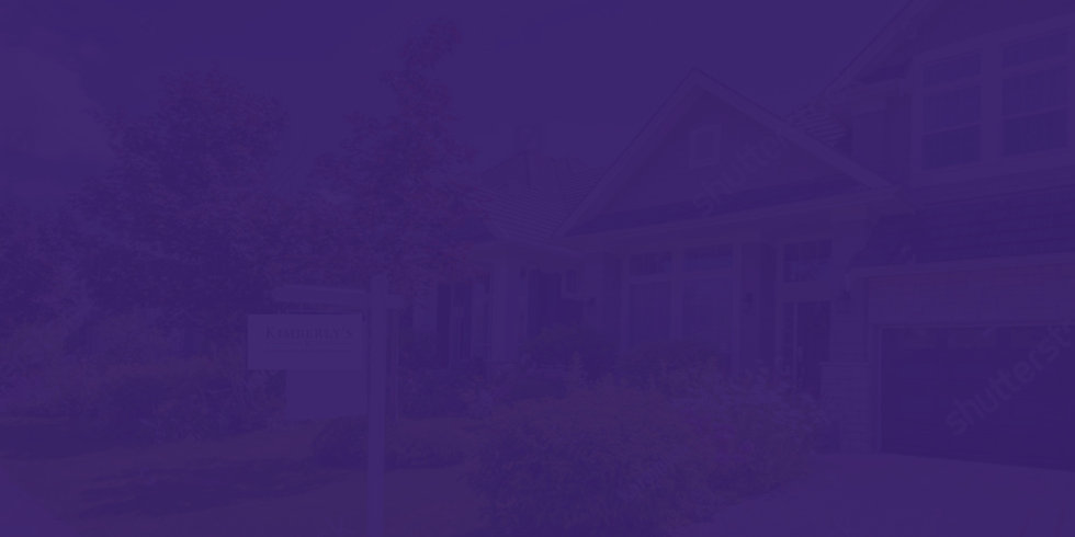 purple silhouette of a home with for sale sign
