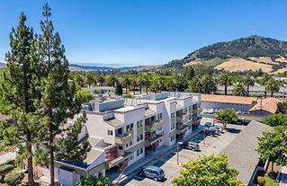 1239 Foothill 112 condo for rent San Luis Obispo exterior of complex birds eye view