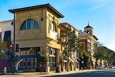 Picture of Downtown San Luis Obispo street corner brown building
