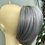 Thumbnail: Clip on ponytail in grey synthetic with claw clip