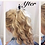 Thumbnail: Natural mixed blonde 12/16/613 human hair extension Scrunchie 12  inches 41g