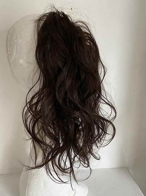 Dark brown (2) 14 inches loose body hair scrunchie