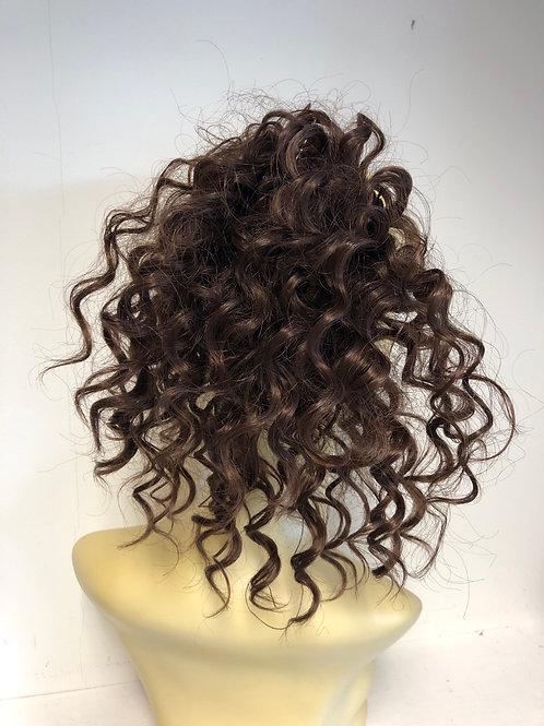 Brown (4) human hair blend hair Scrunchie