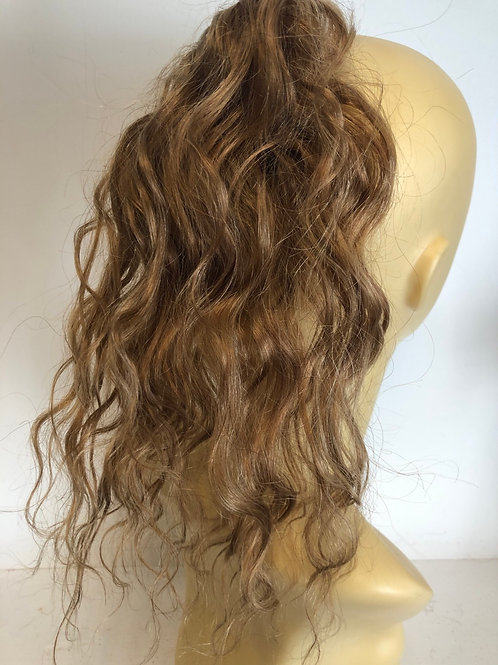 Dark golden blonde wavy (18) 14 inches 35g