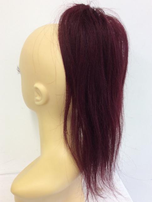 burgandy 99J ponytail 100% human hair scrunchie  14 inches 38g
