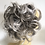 Thumbnail: Mixed silver grey  synthetic curly hairpiece Scrunchie