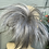 Thumbnail: Grey small spiky small hairpiece Scrunchie be
