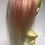 Thumbnail: Bleach blonde and salmon pink  human hair Scrunchie 12 inches
