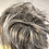 Thumbnail: Blonde mix with silver tips messy small hair Scrunchie tie ponytail
