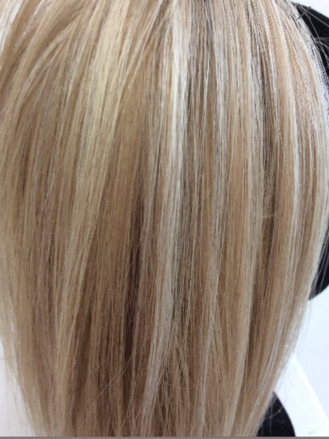 "Mixed blonde human hair 14"" 12/1001 42g"
