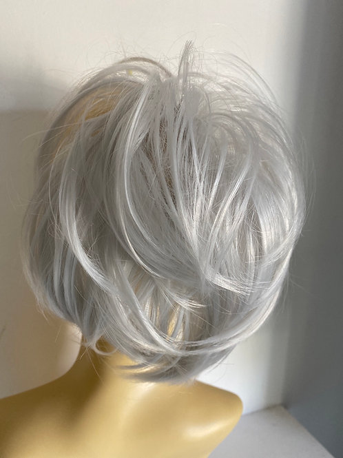 Silver synthetic hairpiece Scrunchie