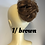 Thumbnail: Brown human hair Scrunchie