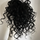 Thumbnail: Black (1) water wave human hair blend 10inches very curly