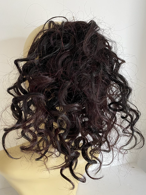 CopyBlablack  and plumb 1B/99J human hair blend 12  inches very curly