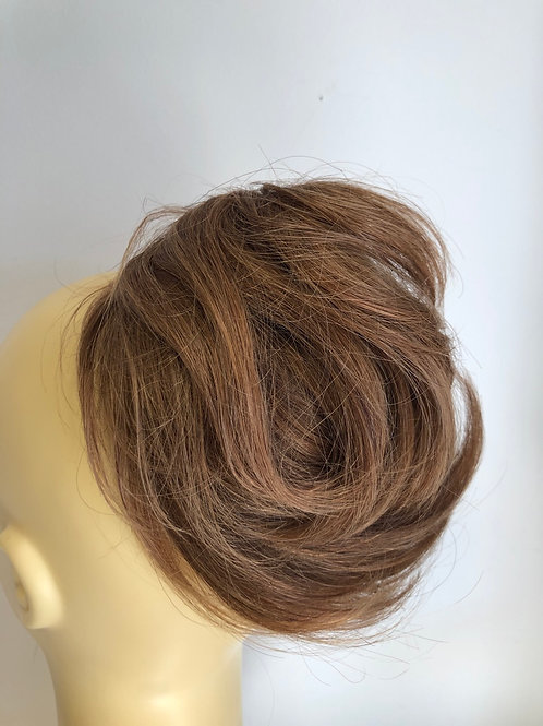 Human hair lrg Scrunchie 6/27 golden brown aprox 50g