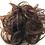 Thumbnail: 1B/33 human hair Scrunchie in black with copper highlights