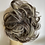 Thumbnail: Brown with bleached highlights synthetic hairpiece Scrunchie