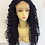 Thumbnail: long deep curl black synthetic wig with lace front (24)