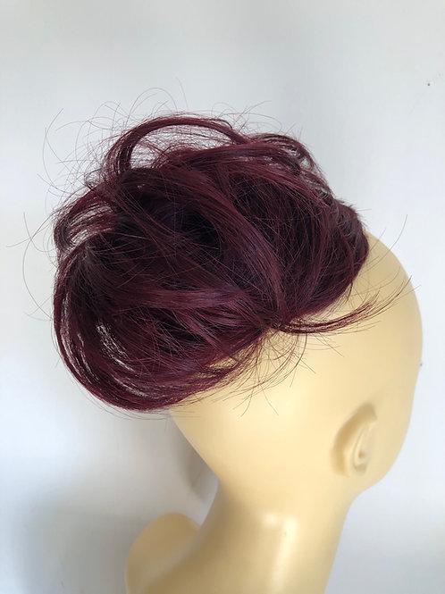 99j burgundy human hair Scrunchie