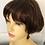 Thumbnail: Brown (4) human hair wig in a bob style