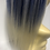 Thumbnail: Bleach blonde and bright blue human hair Scrunchie 12 inches