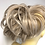 Thumbnail: Silver blonde deluxe synthetic hairpiece Scrunchie