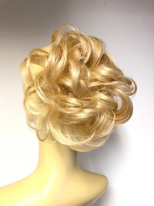 Golden blonde 613 human hair short curly