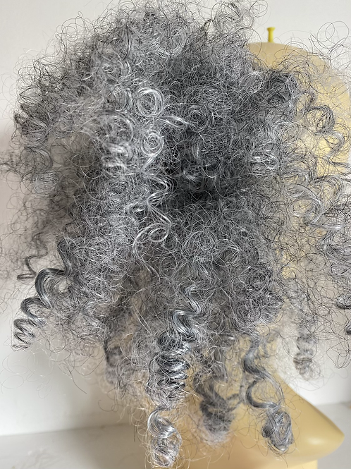 Frizzy deep curl Afro synthetic hair Scrunchie