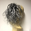 Thumbnail: Grey wavy 100% human hair 10-12 inches