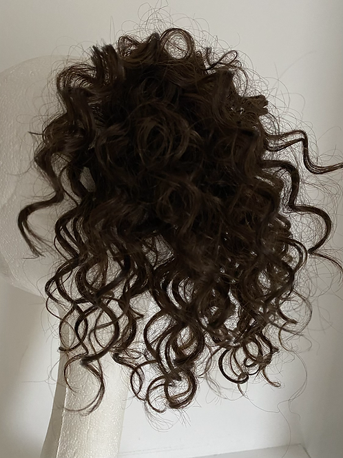 Brown (4) water wave human hair blend 10inches very curly