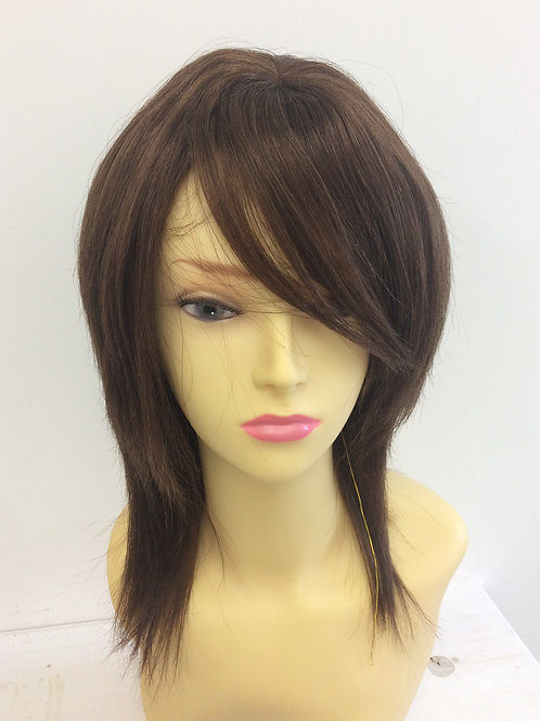 Brown (4) shoulder length 100% human hair