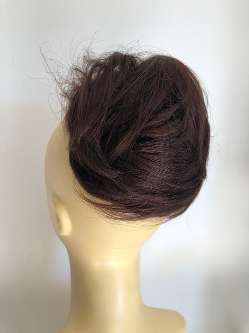 Rich brown (4) human hair extensions ponytail