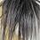 Thumbnail: Darkest salt and peper human hair ponytail extension Scrunchie