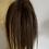 Thumbnail: rich brown   (4) human hair blend hair Scrunchie 12 inches