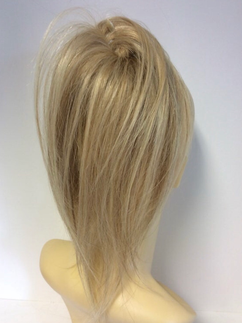 Natural mixed blonde 12/16/613 human hair extension Scrunchie 12  inches 40g