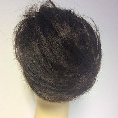 Darkest brown human hair short Scrunchie