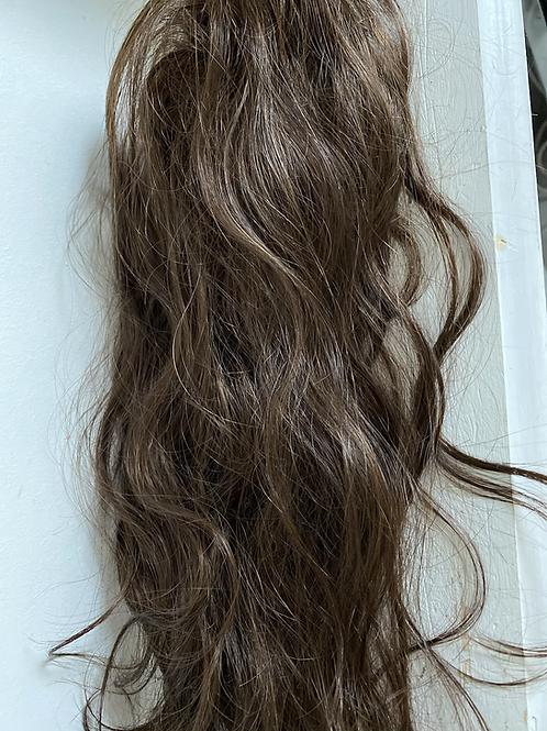 Brown (4) human hair blend hair Scrunchie 18 inches