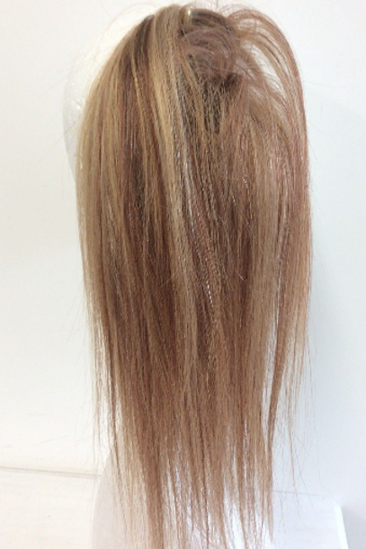 Blonde mix human hair scrunchie extension ponytail (12/16/613) 44g