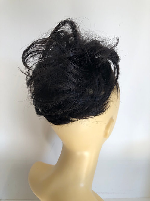 Black 1B human hair ponytail extension Scrunchie