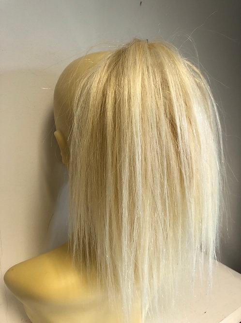 Blonde human hair blend hair Scrunchie