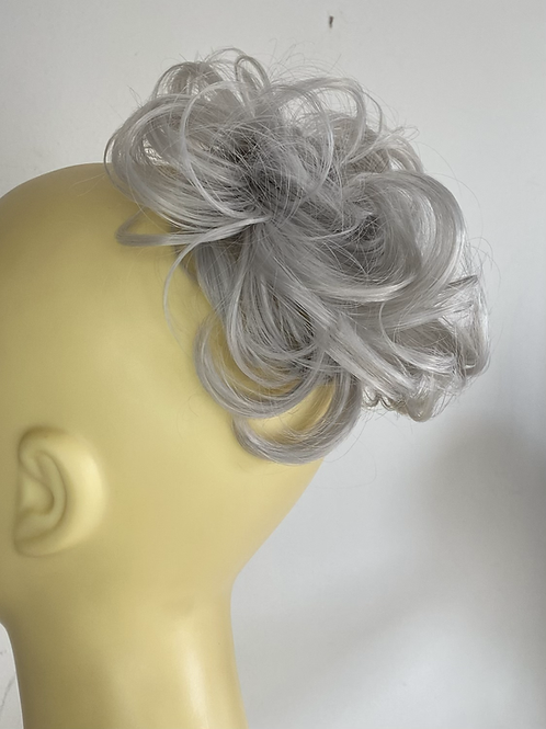 Silver small hairpiece Scrunchie