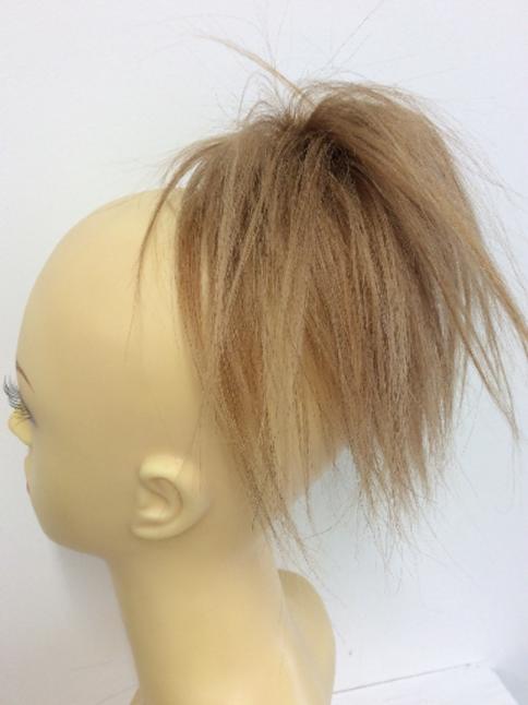 8 inch human hair scrunchie golden blonde 27 41g