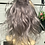 Thumbnail: Ash silver grey wavy human hair ponytail inextension Scrunchie