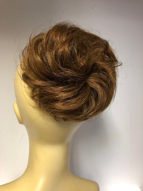 Light golden brown short human hair Scrunchie