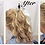 Thumbnail: Blonde mix human hair scrunchie extension ponytail (12/16/613) 44g