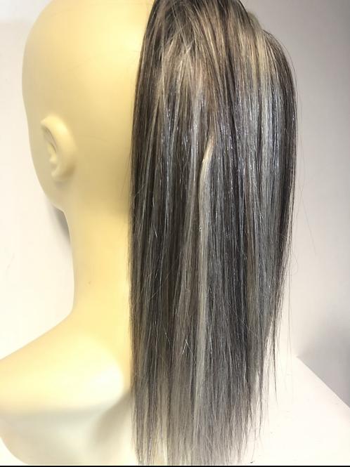 Dark blonde with golden (P6/1001)premium mix with human hair Scrunchie extension